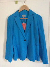 NEW Pure Collection Women's Turquoise Linen Slim-Fit Blazer UK Size 10