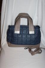 Steve Madden Gray and Blue Satchel Handbag