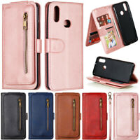 Zipper Wallet Leather Flip Case Cover For Samsung A51 A71 A50 S20 S10 S9 S8 Plus
