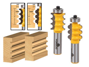 "Triple Bead & Flute Furniture Molding Router Bit Set - 1/2"" Shank - Yonico 16261"