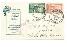 NORTH BORNEO-INCOMING CENSOR MARK No.4 ON NZ HEALTH STAMP COVER 1.10.1940