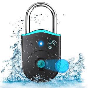 AICase IP65 Wasserdichtes Bluetooth-Fingerabdruck-Vorhängeschloss Keyless Smart