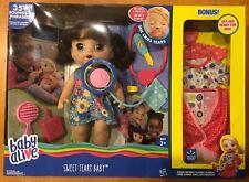 Baby Alive Sweet Tears Brunette Exclusive Bonus Value Pack NIB