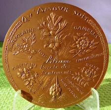 Médaille langage fleur d' amour love flower language horticulture voeux mariage