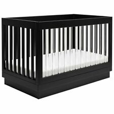 Babyletto Harlow 3-in-1 Convertible Crib with Toddler Bed Conversion Kit - Black
