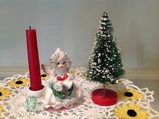 Vintage Christmas Commodore Angel Candle Holder, Tree
