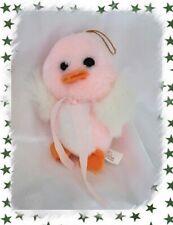 Doudou Peluche Poussin Rose Et Blanc Jemini 13 cm