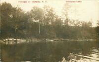 Cottages Cliffside New York 1912 RPPC Photo Postcard Goodyear Lake  20-3407