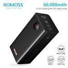 ROMOSS+60000mAh+Power+Bank+22.5W+PD+QC+USB-C+4USB+External+Battery+Fast+Charger