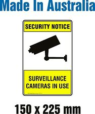 Security Notice Surveillance Camera in Use - Rigid PLASTIC Sign