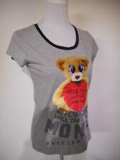 Philipp Plein Donna T-shirt Art. Fw15 Cw340290. Col.grigio SCONTO - 55 SALDI