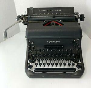 Remington Rand Model 17 Vintage 1947 Portable Manual Typewriter, Black