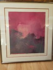 "Original Monoprint By Listed Artist Howard Hersh ""The Rythm/The Storm # 9"