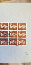 GB - Machin  24p Postal Forgery  large block of 9 1983 cancel Rare