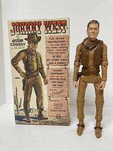 Vintage Johnny West Action Figure #2062 with Original Box/ Accs Rare Collectible