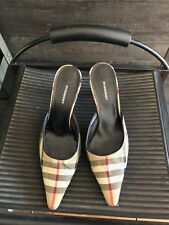 Burberry high heel slides shoes 38