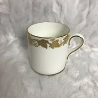 Wedgwood Bone China Demitasse Cup Made in England Gold Grape Leaf Trim Vintage