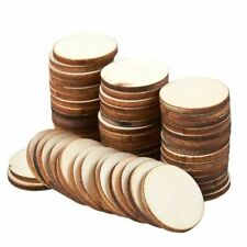 """60 Pcs Unfinished Wood Slices, Round Natural Rustic Wooden Circles for DIY, 1"""""""