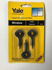 yale p130 3 spare window lock keys