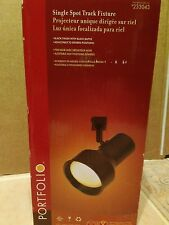 Portfolio Single Spotlight Track lighting fixture head Model 233043 Black New