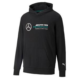 New! 2021 Mercedes AMG F1 Essential Mens Hoodie Hoody Official PUMA Merchandise