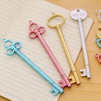 Creative Key Shape Needle Tip Gel Ink Black Pen Student's Stationery Gift