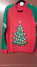 MEDIUM SPORTS UGLY SWEATER UNISEX NWT 40 INCH CHEST RED/GREEN