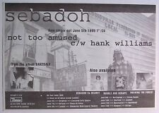 SEBADOH 1995 original advert NOT TOO AMUSED bakesale
