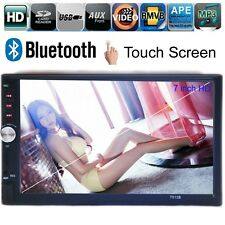 "7"" Car Stereo Radio MP3 MP4 Bluetooth Touch Screen FM USB TF AUX Handsfree 2 DIN"