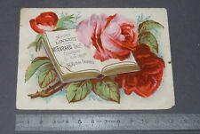 CHROMO 1890-1910 MAISON LINSART EVRARD PARIS CHAUSSURES / FLEURS ROSES