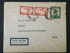 LETTRE BELGISH CONGO TO FRANCE 12-11-1946 COVER AIR MAIL LEOPOLOVILLE