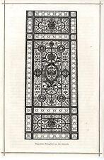 Vergoldetes Eisengitter aus der Rotunde Holzschnitt-Vignette von 1873