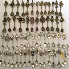 5 Mixed Spoon Charm Long Cord Necklaces Burning Man Playa Festival Gift Pack