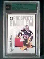 MARC-ANDRE FLEURY 04/05 AUTHENTIC 3-COLOR PIECE OF A GAME-USED EMBLEM /30  SP