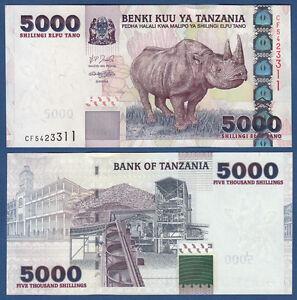 TANSANIA  / TANZANIA 5000 Shillingi UNC P.38
