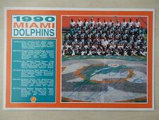 "Kerry Glenn Autographed 6' X 9"" 1990 Miami Dolphins Team Picture"