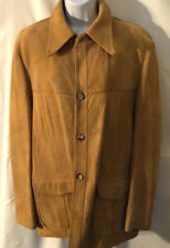 Vtg Classic Western style Camel /Tan Suede tyle suede jacket L