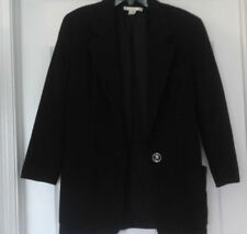 THE LIMITED LADIES CLASSIC BLACK WOOL BLEND BLAZER - ONE BUTTON - SIZE M