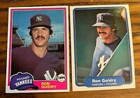 Ron Guidry Topps #250 and 1982 Fleer #38 - Yankees