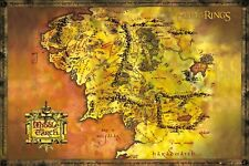 More details for lord of the rings middle earth map poster fp2647