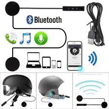 Motorcycle Helmet Bluetooth 4.1+EDR Headset Stereo Interphone Music Call Control