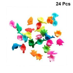 24pcs Wine Glass Charms Drinking Cup Sign Wine Identifier Marker Suction Cup NEW