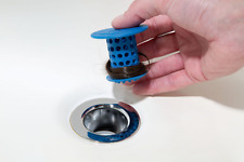 TubShroom The Revolutionary Tub Drain Protector Hair Catcher/Strainer/Snare,Blue