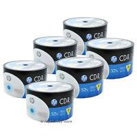 300 Pack HP Logo Brand Blank CDR CD-R 52X Recordable Disc Media 80 min 700MB