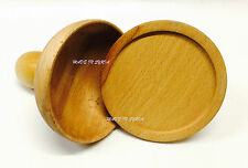 Parte de 2 mano tallada en madera de olivo a la parrilla Kubba Molde قوالب كبة مشوية