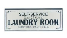 Metal Laundry Wall Sign-Laundry Room