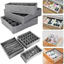 3 Pack Storage Drawer Organiser Storage Solution Tidy Socks Ties Draw NI