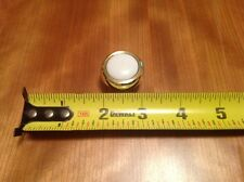Belwith 11PB/W Polished Brass White Insert Pull Knob New Old Stock
