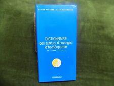 DICTIONNAIRE des Auteurs d'ouvrages d'HOMEOPATHIE en langue française Rabanes
