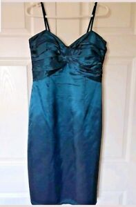 ARIELLA Ladies Dress Teal Green UK 14 Midi Evening Party Tie Back Wedding Formal